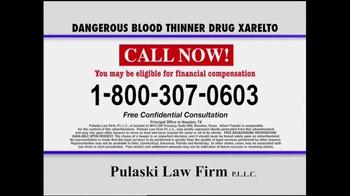 Pulaski & Middleman TV Spot, 'Xarelto Warning' - Thumbnail 9