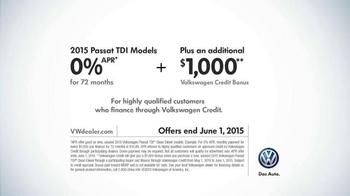 2015 Volkswagen Passat TDI Clean Diesel TV Spot, 'Diesel Cars' - Thumbnail 10