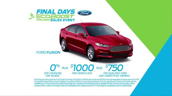 Ford EcoBoost Challenge Sales Event TV Spot, 'Final Days' - Thumbnail 8