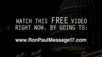 Ron Paul Message TV Spot, 'Free Video' - Thumbnail 10
