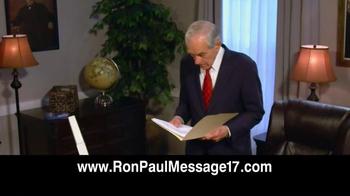 Ron Paul Message TV Spot, 'Free Video' - Thumbnail 8