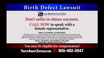 Lee Murphy Law TV Spot, 'Zofran Birth Defect'
