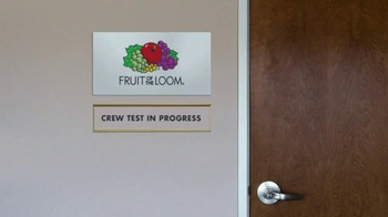 Fruit of the Loom Stay-Tucked Crew TV Spot, 'Test' - Thumbnail 1
