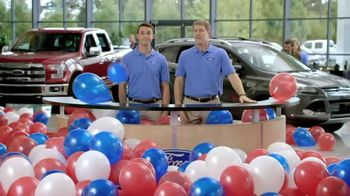 Ford Memorial Day Sales Event TV Spot, 'Too Many Balloons'