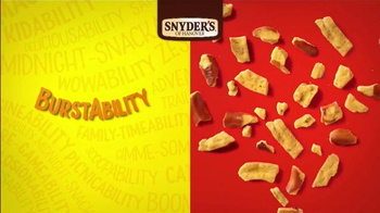 Snyder's of Hanover Honey Mustard & Onion Pretzel TV Spot, 'Burstability'