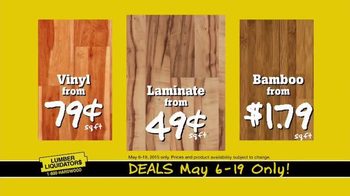 Lumber Liquidators TV Spot, 'Incredible May Deals' - Thumbnail 8