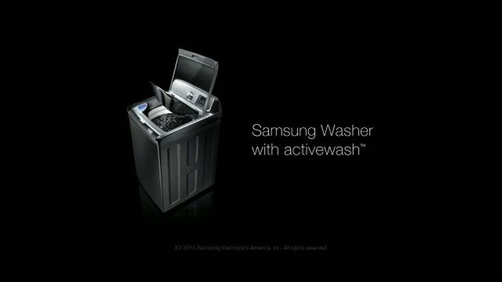 Samsung Washer with Activewash TV Commercial, 'Tackles All