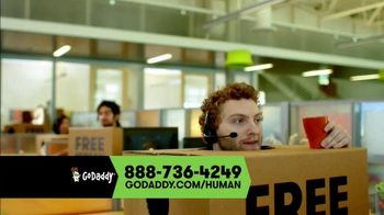 GoDaddy TV Spot, \'Free Human\'
