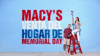 Macy's La Venta del Hogar de Memorial Day TV Spot, 'Almohadas' [Spanish] - Thumbnail 1
