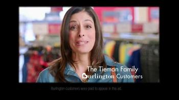 Burlington Coat Factory TV Spot, 'The Tieman Family' - Thumbnail 1