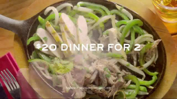 Chili's Fajitas TV Spot, 'Dinner for Two' Song by Terraplane Sun - 1000 commercial airings