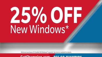 Champion Windows TV Spot, 'Air Leaks and Drafts: 25 Percent Off' - Thumbnail 5