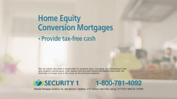 Security 1 Lending Reverse Mortgages TV Spot, 'Life Changing' - Thumbnail 5