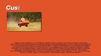 Kubota L2501 Tractors TV Spot, 'Value in Customer Instant Rebates' - Thumbnail 6