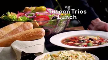 Olive Garden Tuscan Trios Lunch TV Spot, 'Soup, Salad and Breadsticks' - Thumbnail 3