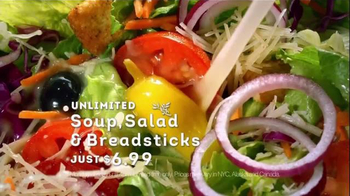 Olive Garden Tuscan Trios Lunch TV Spot, 'Soup, Salad and Breadsticks' - Thumbnail 5