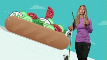 Subway TV Spot, 'Pile on Those Veggies!' Featuring Apolo Ohno, Justin Tuck - Thumbnail 2