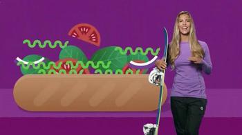 Subway TV Spot, 'Pile on Those Veggies!' Featuring Apolo Ohno, Justin Tuck - Thumbnail 6