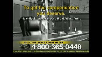 Law Offices of Jeffrey S. Glassman TV Spot, 'Mespthelioma' - Thumbnail 7