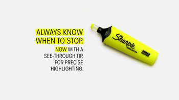 Sharpie Highlighter TV Spot, 'Always Know When to Stop'