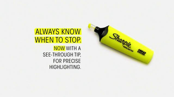 Sharpie Highlighter TV Spot, 'Always Know When to Stop' - Thumbnail 8