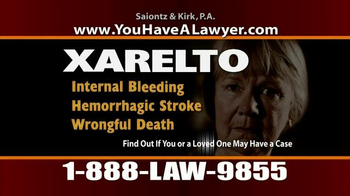 Saiontz & Kirk, P.A. TV Spot, 'Xarelto' - Thumbnail 6