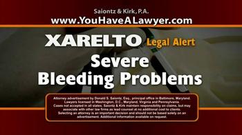 Saiontz & Kirk, P.A. TV Spot, 'Xarelto' - Thumbnail 2