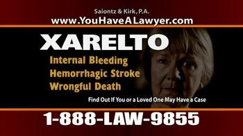 Saiontz & Kirk, P.A. TV Spot, 'Xarelto' - Thumbnail 4