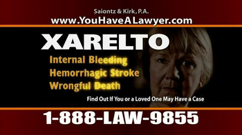 Saiontz & Kirk, P.A. TV Spot, 'Xarelto' - Thumbnail 5