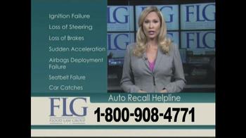 Flood Law Group TV Spot, 'Auto Recall Helpline' - Thumbnail 5