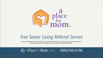 A Place For Mom Free Senior Living Referral TV Spot Featuring Joan Lunden - Thumbnail 9