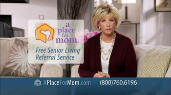 A Place For Mom Free Senior Living Referral TV Spot Featuring Joan Lunden