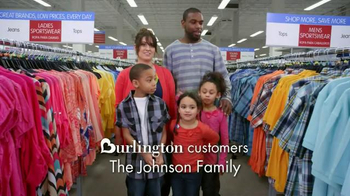Burlington Coat Factory TV Spot, 'The Johnson Family'