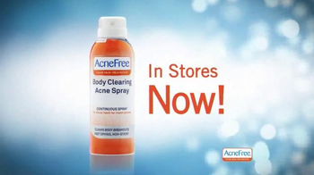 Acne Free Body Clearing Acne Spray TV Spot