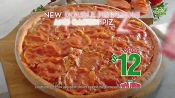 Papa John's Double Pepperoni and Bacon Pizza TV Spot - Thumbnail 5