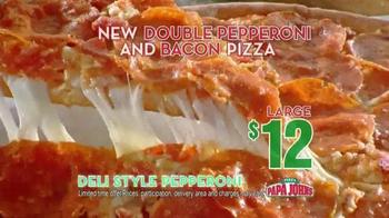 Papa John's Double Pepperoni and Bacon Pizza TV Spot - Thumbnail 6