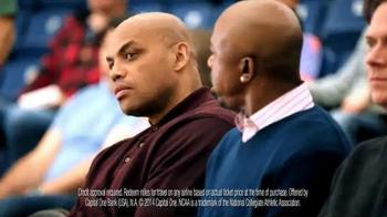 Capital One TV Spot, 'Bleacher Banter: Lights On' Featuring Charles Barkley - Thumbnail 3