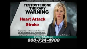 Crumley Roberts TV Spot, 'Testosterone Therapy'