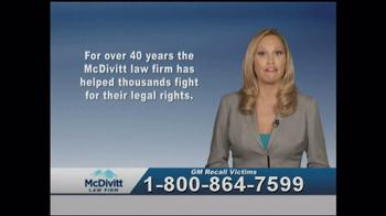 McDivitt Law Firm TV Spot, 'GM Recall Victims' - Thumbnail 5