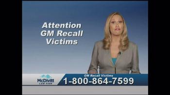 McDivitt Law Firm TV Spot, 'GM Recall Victims' - Thumbnail 1