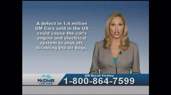 McDivitt Law Firm TV Spot, 'GM Recall Victims' - Thumbnail 2