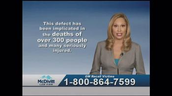 McDivitt Law Firm TV Spot, 'GM Recall Victims' - Thumbnail 3