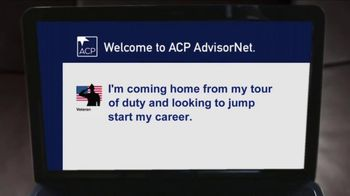 ACP  AdvisorNet TV Spot, 'Our Military Is Coming Home'