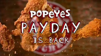 Popeyes TV Spot, 'Payday is Back' - 69 commercial airings