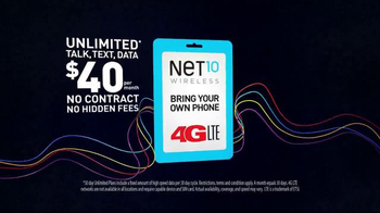 Net10 Wireless Bring Your Own Phone Plan TV Spot, 'Wireless Your Way' - Thumbnail 8