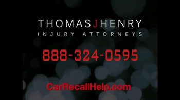 Thomas J. Henry Injury Attorneys TV Spot, 'Car Recall'