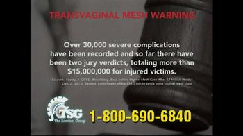 The Sentinel Group TV Spot, 'Transvaginal Mesh Warning'