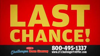 2014 Challenger Dream Giveaway TV Spot - Thumbnail 10