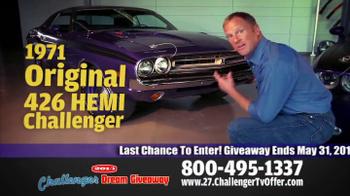 2014 Challenger Dream Giveaway TV Spot - Thumbnail 3