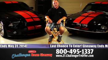 2014 Challenger Dream Giveaway TV Spot - Thumbnail 6